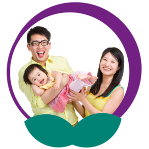 Image of Young Couple Holding Toddler